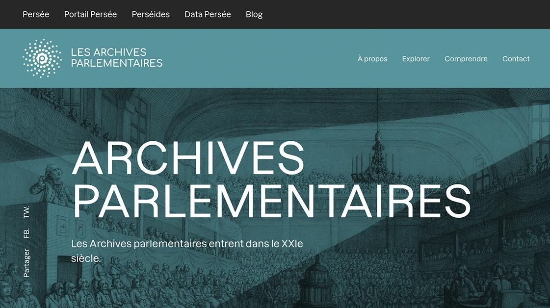 Ouverture de la perséide Archives parlementaires > https://archives-parlementaires.persee.fr/