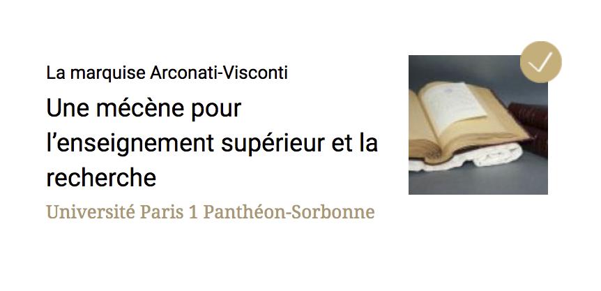 La marquise Arconati-Visconti : projet terminé