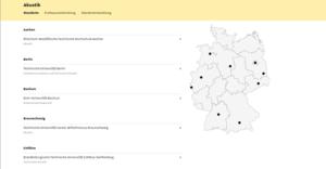 Capture d'écran d'une page du portail des disciplines rares en Allemagne : Das Portal Kleine Fächer