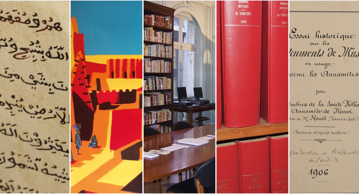 Illustration-montage pour la Bibliothèque Félix Houphouët-Boigny