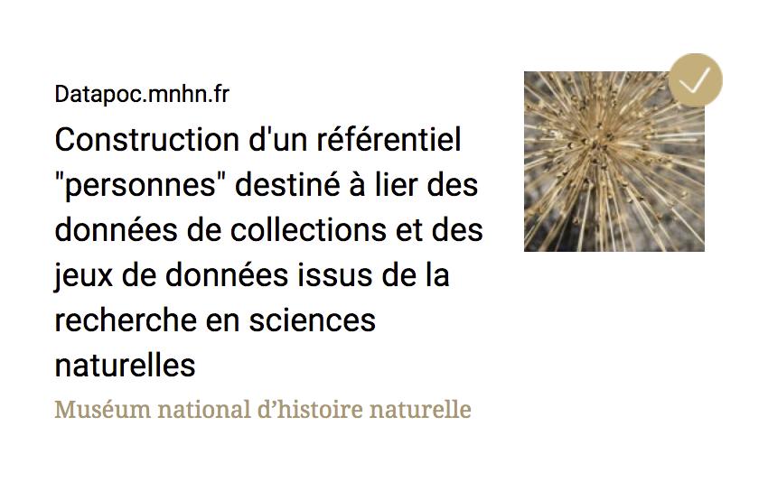 Datapoc.mnhn.fr : projet terminé