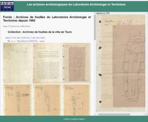 Les archives de fouilles archéologiques du système ArSol