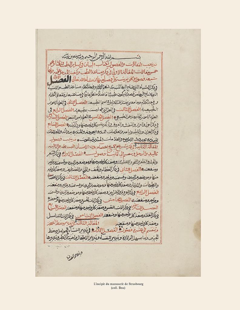 Incipit - d'al-Ḥamawī, le Kitāb al-bayān fī kashf asrār al- ṭibb li-l-ṭiyān ou Le dévoilement des secrets de la médecine à tous