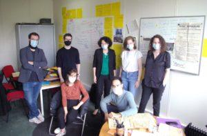 Parole de chercheurs >>> Valérie Spaëth (au centre) accompagnée d'une partie de l'équipe du projet-CLIODIFLE
