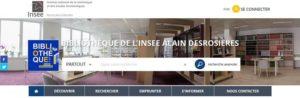Nouveau site Internet pour la bibliothèque de l'Insee Alain Desrosières
