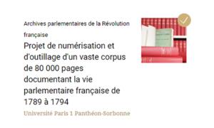 Archives parlementaires de la Révolution française : projet terminé