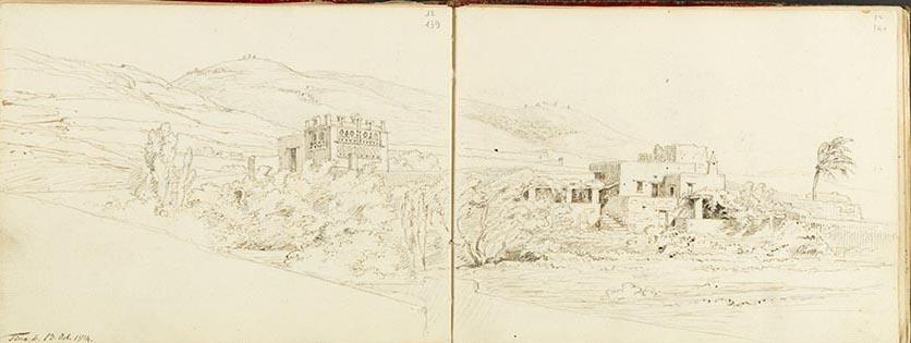 Carl Haller von Hallerstein, Tinos, Carnet de croquis, 1812, 1813, 1814, 15 x 19,5 cm