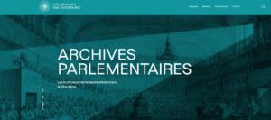 Perséide Archives parlementaires